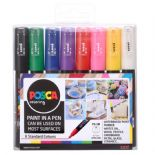 Posca 1mm Extra Fine Markers 8 Piece Pack